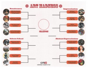 CMA's Art Madness bracket sheet