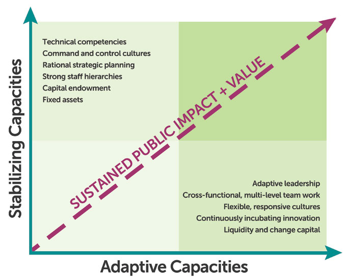 Adaptive Capacities vs. Stabilizing Capacties