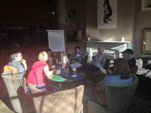 The afternoon wraps up with  continued exchanges in small groups