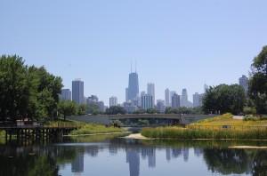 A view of the Lincoln Park Zoo.