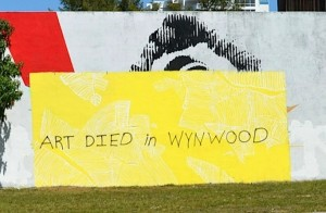 A piece of public street art in the Wynwood Arts District in Miami. Image from the .