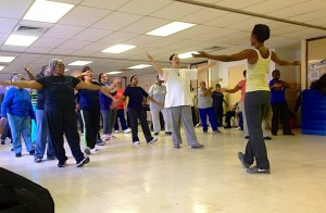 A dance class for seniors at the Brownsville Recreation Center in Brooklyn is